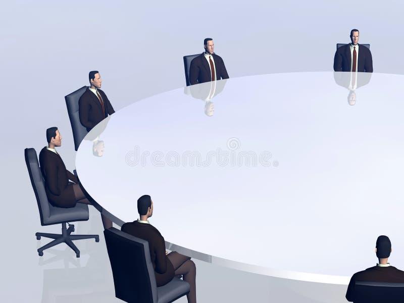 Het succesteam in conferentie. stock illustratie