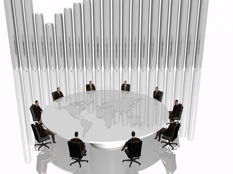 Het succesteam in vergadering. royalty-vrije illustratie