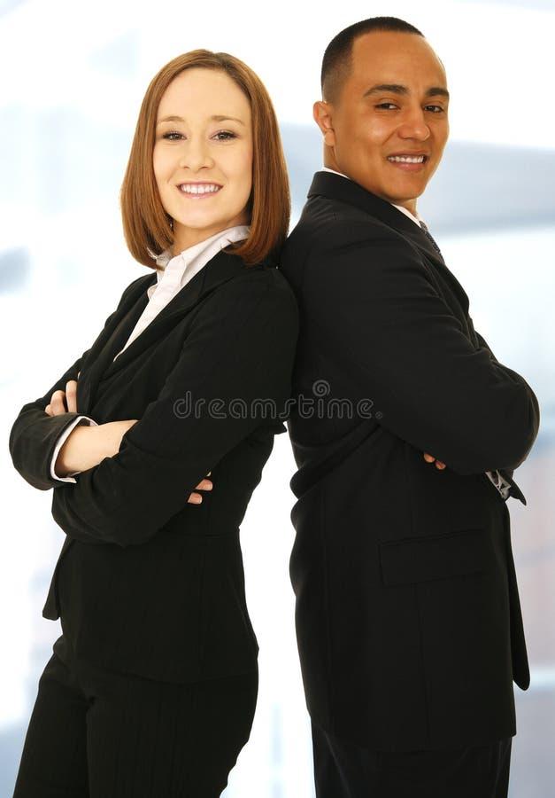 Het succesvolle Commerciële Glimlachen van het Team royalty-vrije stock fotografie