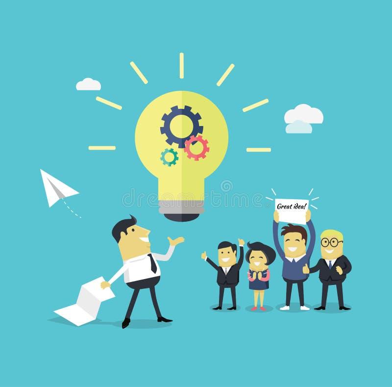 Het succesvolle Grote Idee van het Ontwerpconcept stock illustratie