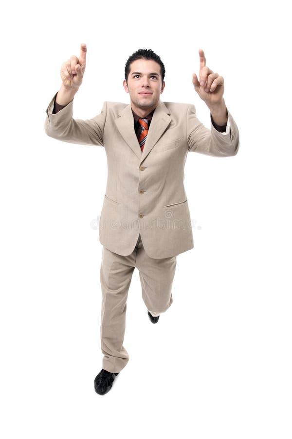 Het succesvolle Jonge zakenman toejuichen royalty-vrije stock afbeelding