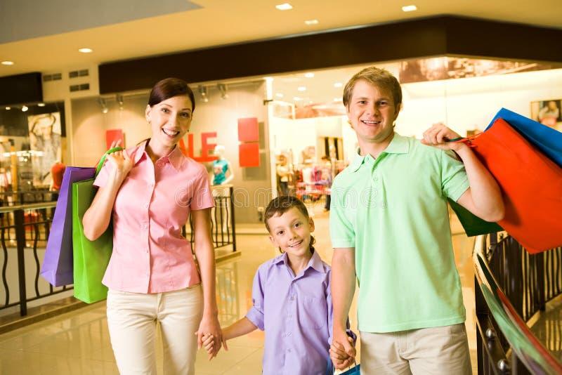 Het succesvolle winkelen stock foto