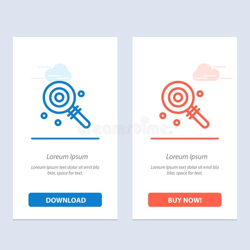 Het suikergoed, Lollypop, de Lollie, de Zoete Blauwe en Rode Download en kopen nu de Kaartmalplaatje van Webwidget royalty-vrije illustratie