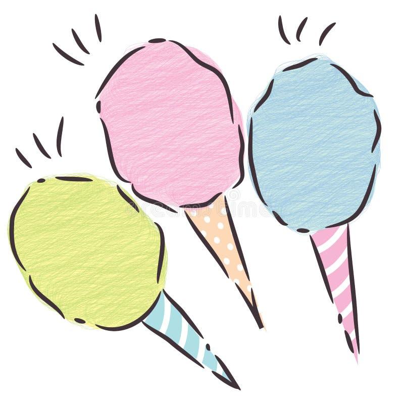 Het suikergoed van Conton vector illustratie