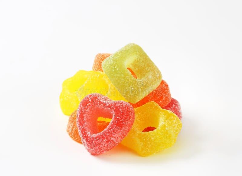Het suikergoed van de fruitgelei stock foto