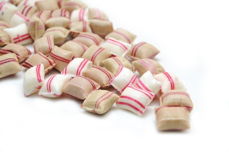 Het suikergoed van de pepermunt. stock foto's