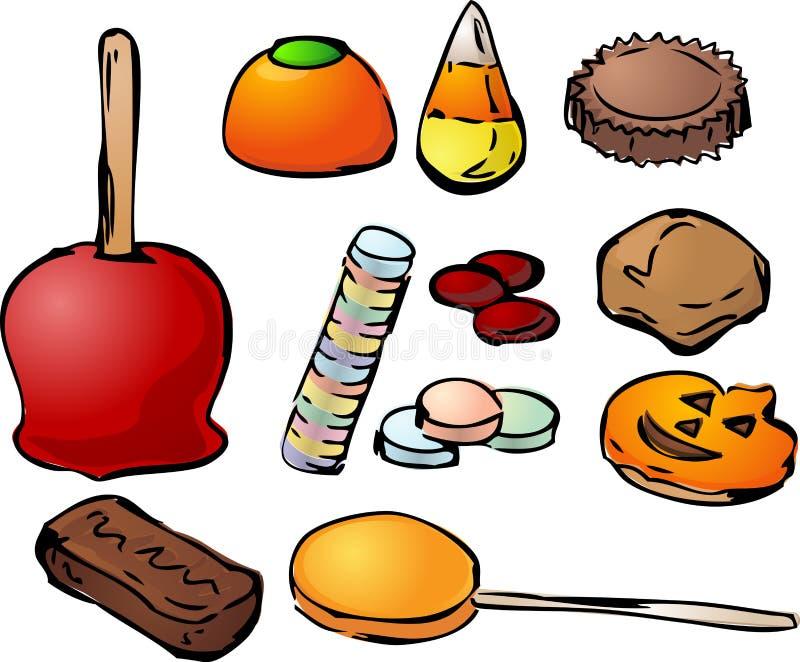Het suikergoed van Halloween vector illustratie