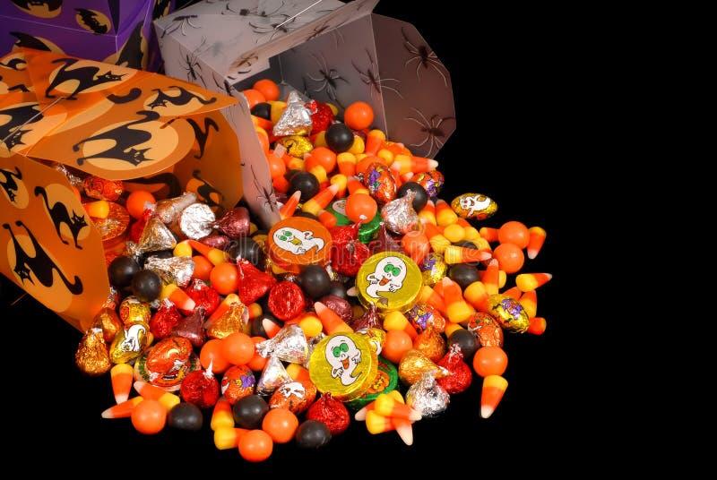 Het suikergoed van Halloween in Chinese containers royalty-vrije stock foto