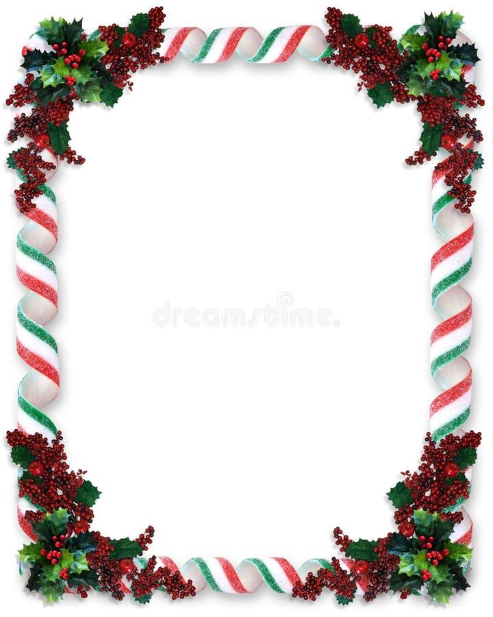 Het Suikergoed van het Lint van de Grens van Kerstmis stock illustratie