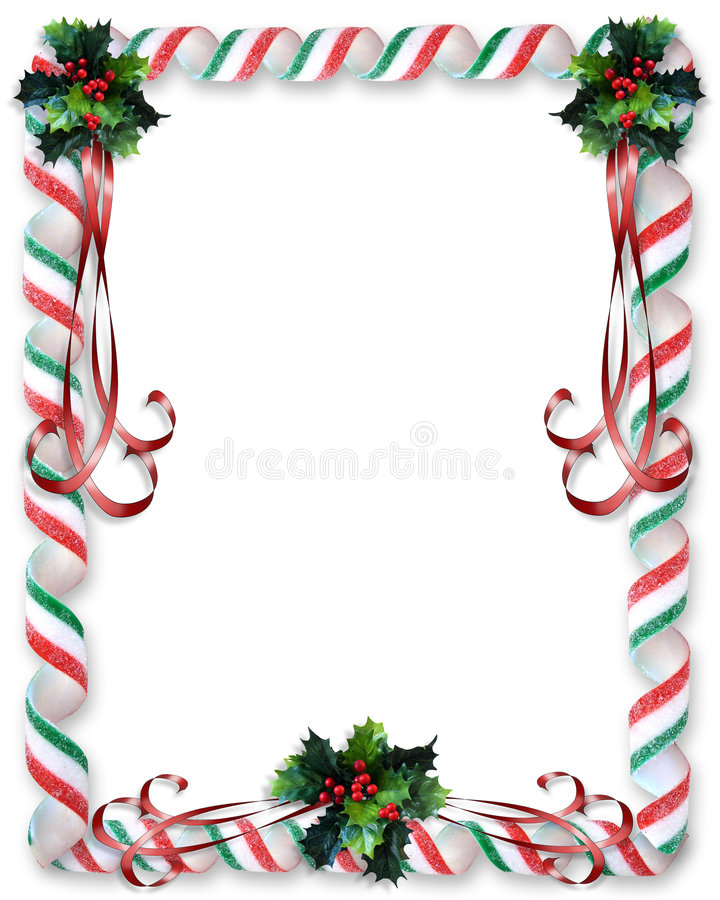 Het Suikergoed van Kerstmis en de grens van de Hulst royalty-vrije illustratie