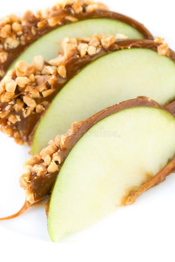 Het suikergoedappelen van de karamel stock fotografie