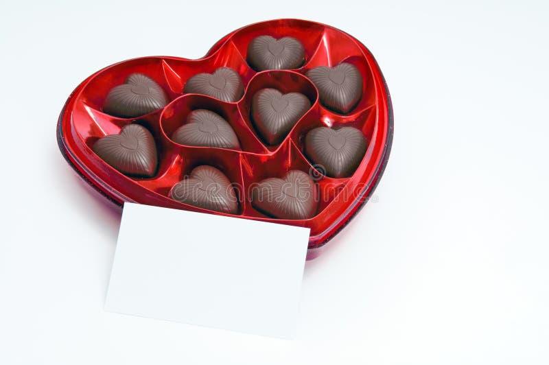 Het suikergoeddoos van de chocolade royalty-vrije stock fotografie