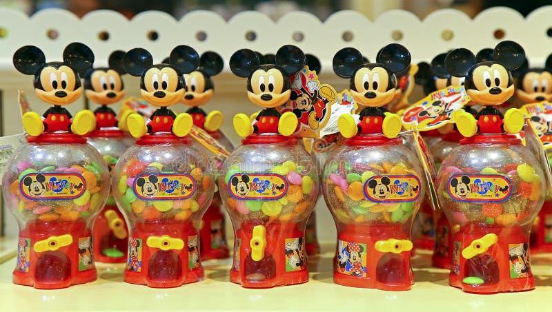 Het suikergoedkruiken van de Mickeymuis stock afbeeldingen