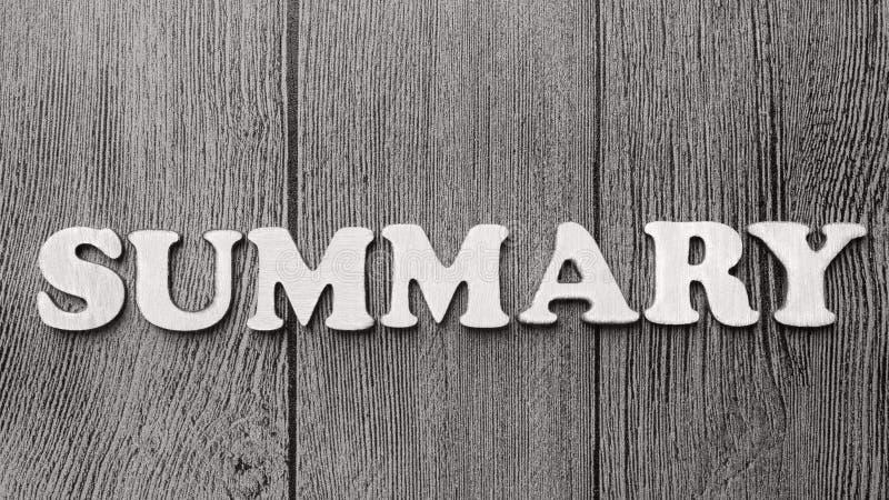 Het summiere, Motievenconcept van Woordencitaten stock foto