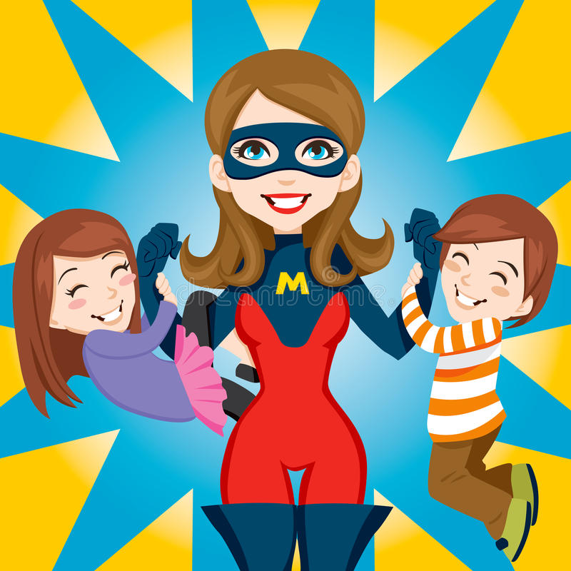 Het super Mamma van de Held royalty-vrije illustratie