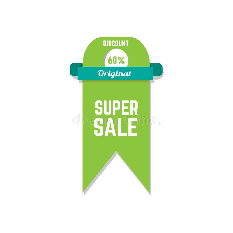 Het super vectorart. van de verkoopkorting stock fotografie