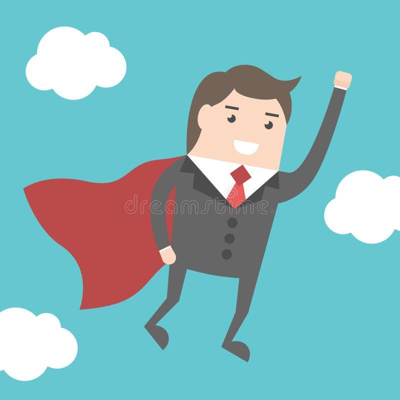 Het super zakenman vliegen vector illustratie