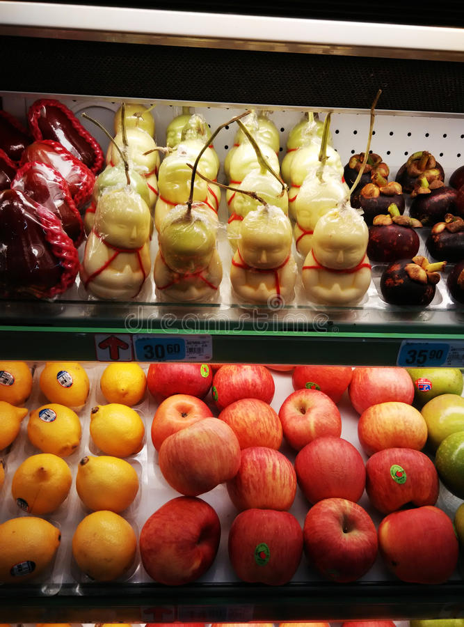 Het supermarktfruit stock foto
