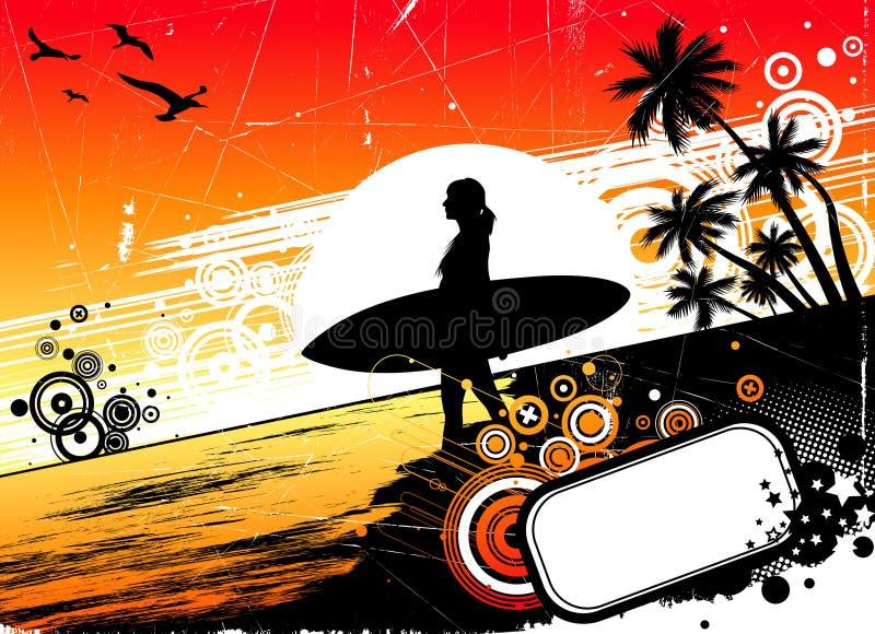 Het surfen vector illustratie
