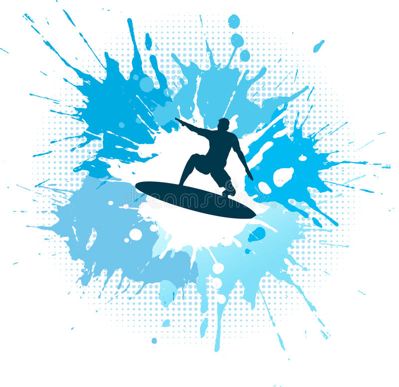 Het surfen grunge stock illustratie