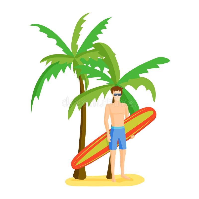 Het surfen jongens vectorillustratie stock illustratie