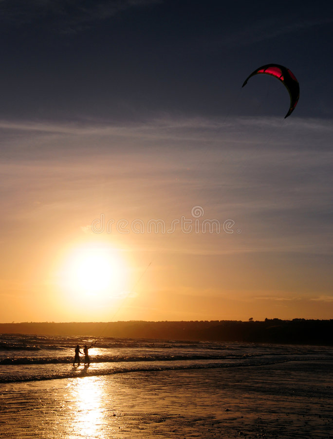 Het Surfen van de vlieger stock fotografie
