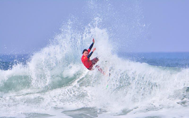 Het surfen van de Wereld die van het Wereldkampioenschap reeks-WQS kwalificeren royalty-vrije stock foto's