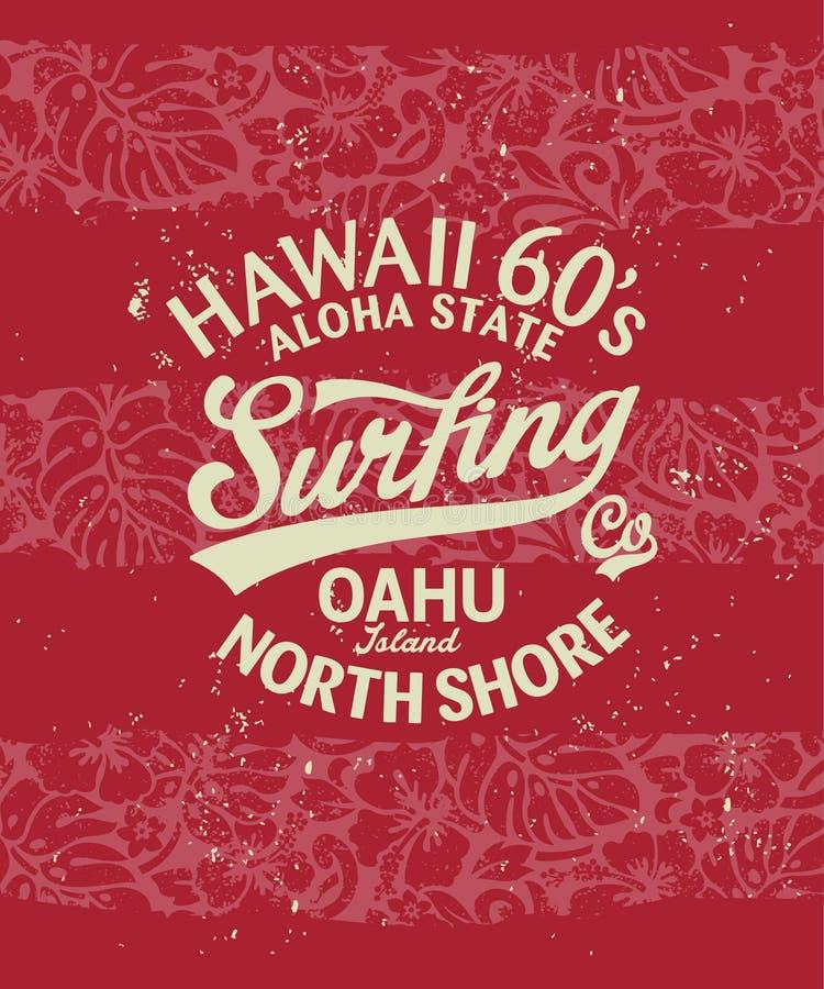 Het Surfen van Hawaï stock illustratie
