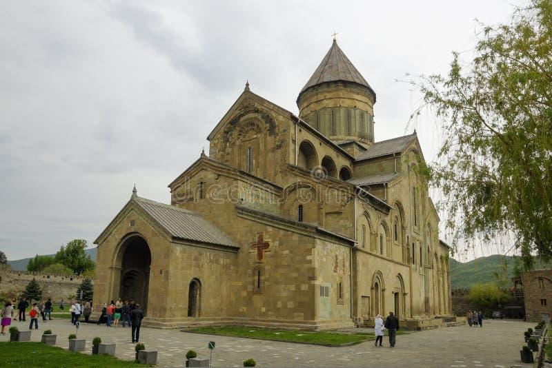 Het Svetitskhoveli-Klooster Mtskheta georgië Mtskheta is de oude hoofdstad van Georgië, zijn cultureel en historisch centrum stock foto's