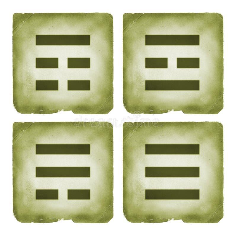 Het symbool uitstekende stijl van Bagua trigrams vector illustratie