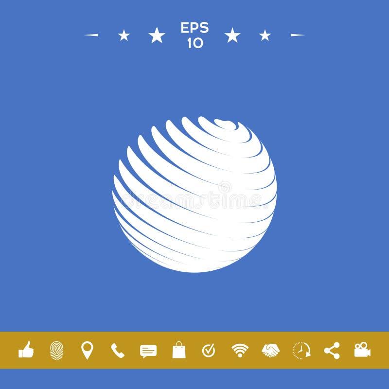 Het symbool van het aardeembleem stock illustratie