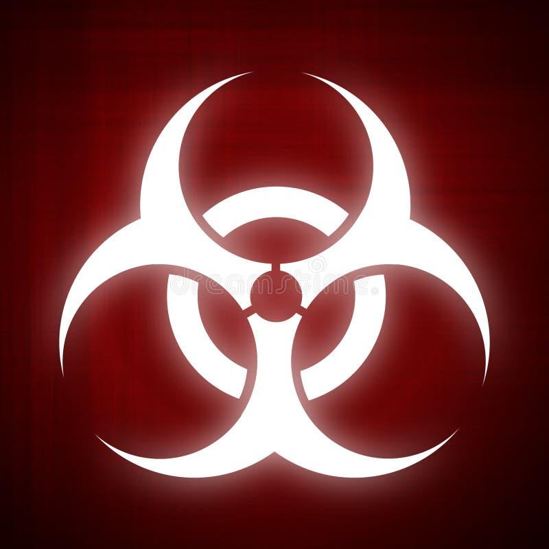 Het symbool van Biohazard op rode achtergrond vector illustratie
