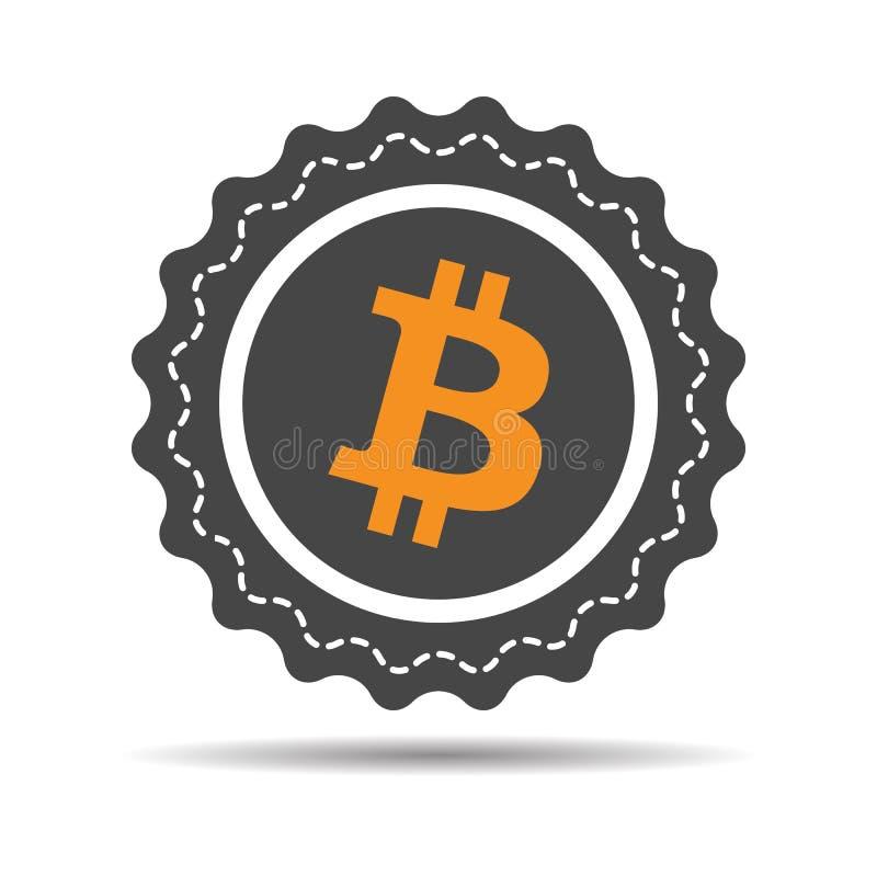 Het symbool van Bitcoincryptocurrency vector illustratie