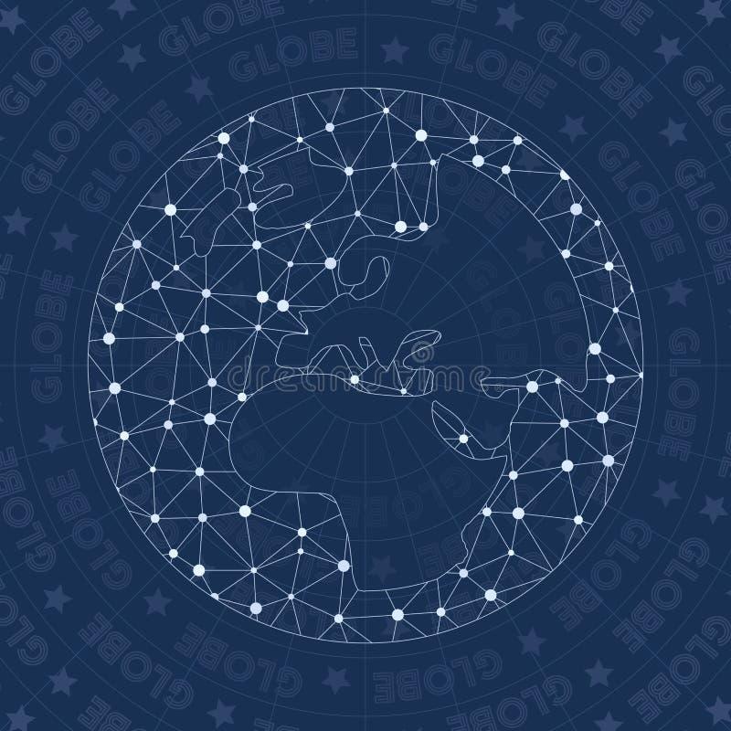 Het symbool van het bol inv netwerk stock illustratie