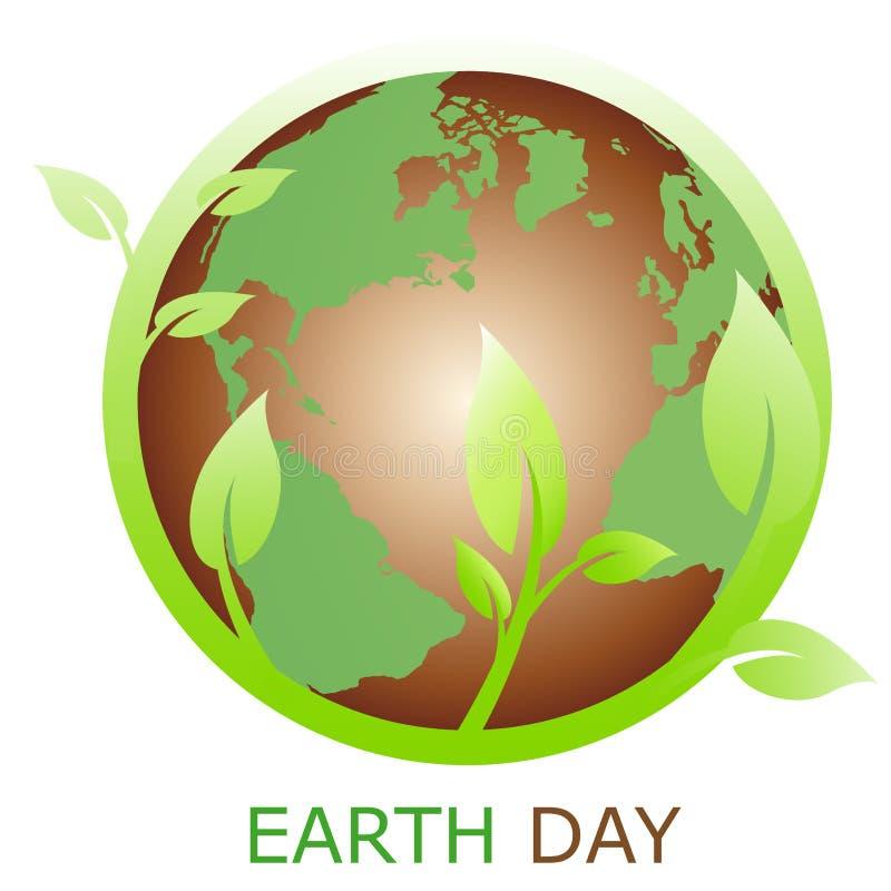 Het symbool van de aarde, embleembedrijf stock illustratie