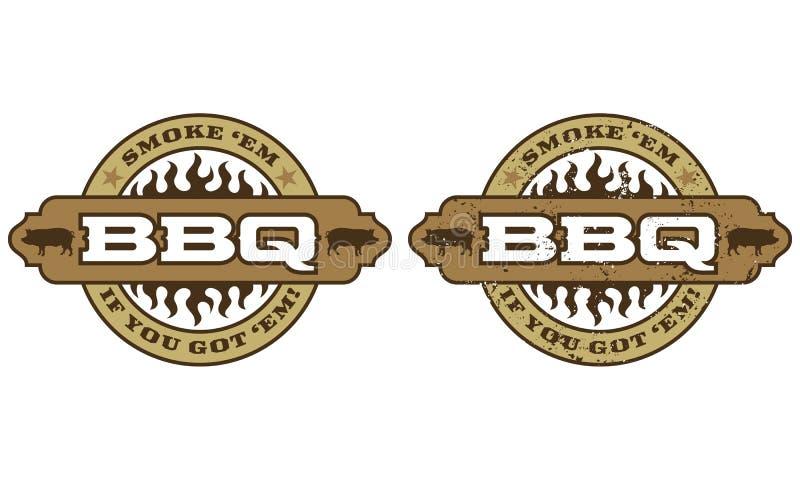 Het Symbool van de barbecue met vlammen royalty-vrije illustratie