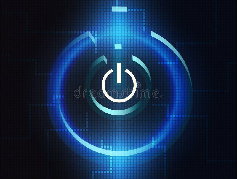 Het symbool van de digitale computer stock illustratie