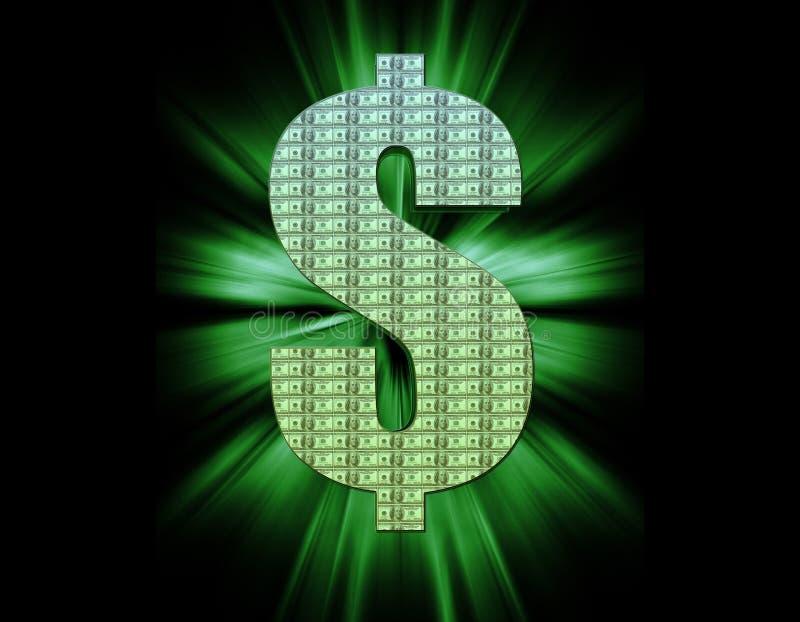 Het Symbool van de dollar vector illustratie