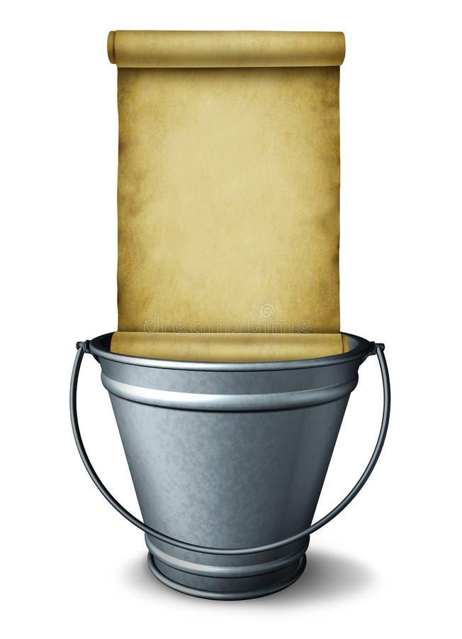 Het Symbool van de emmerlijst royalty-vrije illustratie