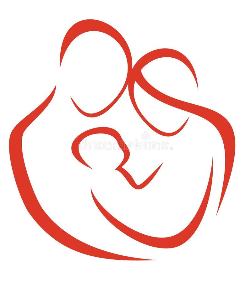 Het symbool van de familie vector illustratie