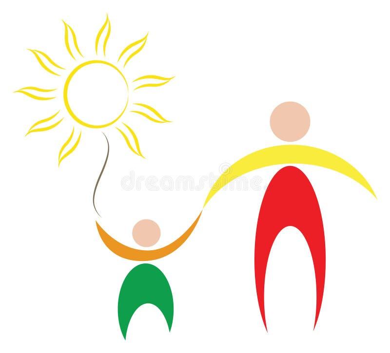Het symbool van de familie royalty-vrije illustratie