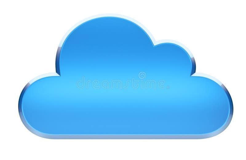Het Symbool van de Gegevensverwerking van de wolk stock illustratie