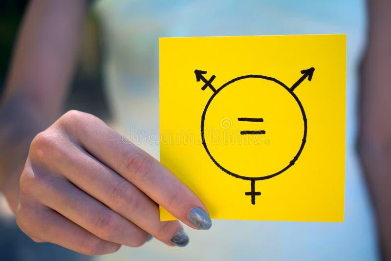Het symbool van de gendergelijkheidtranssexueel stock fotografie