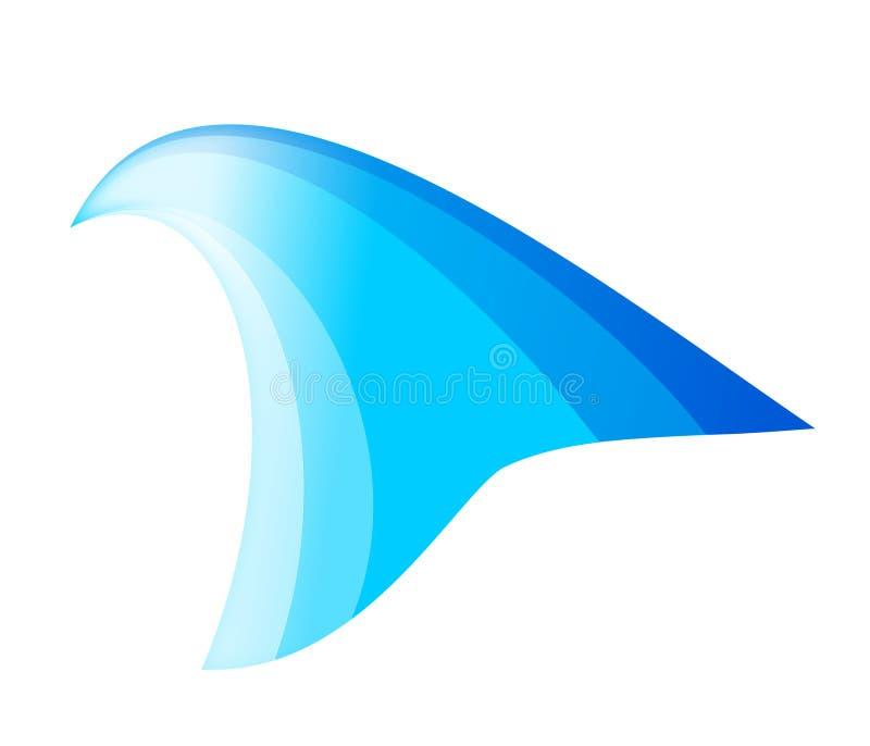 Het symbool van de golf stock illustratie