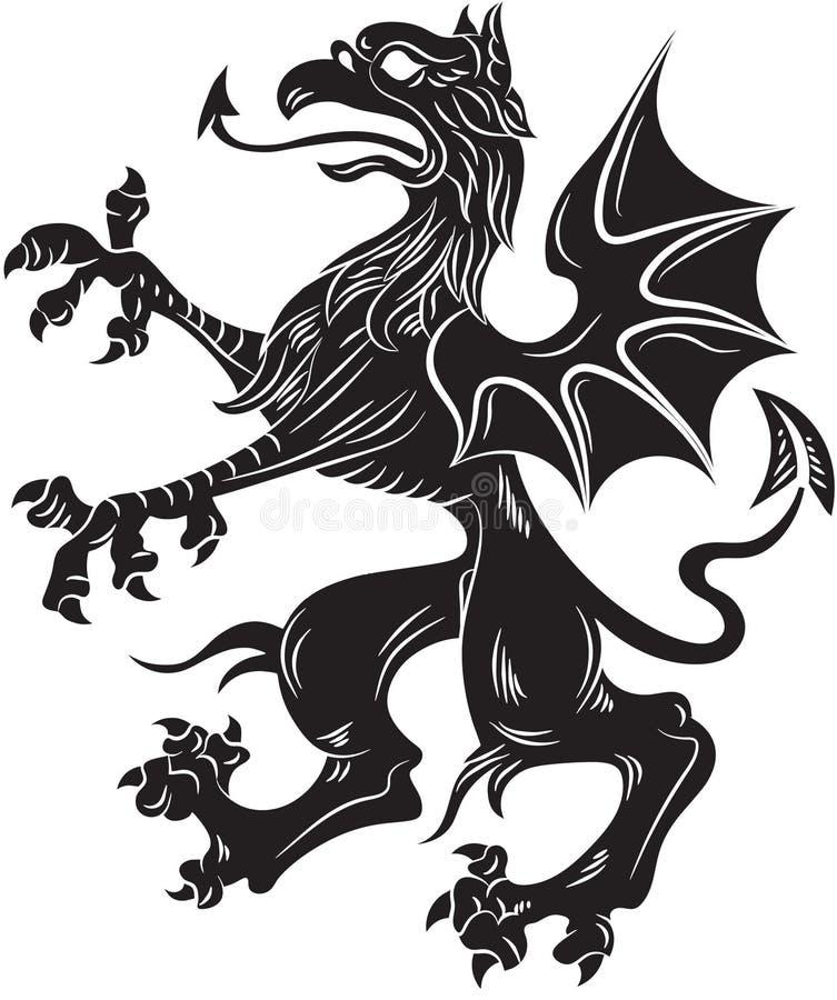 Het symbool van de griffioenwapenkunde royalty-vrije stock foto's