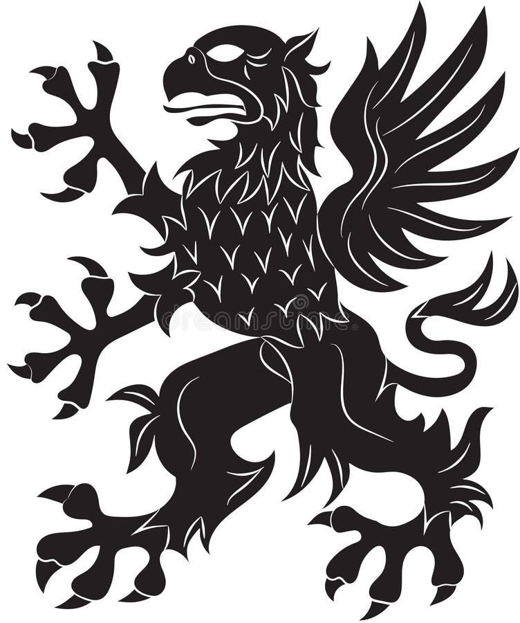 Het symbool van de griffioenwapenkunde royalty-vrije illustratie