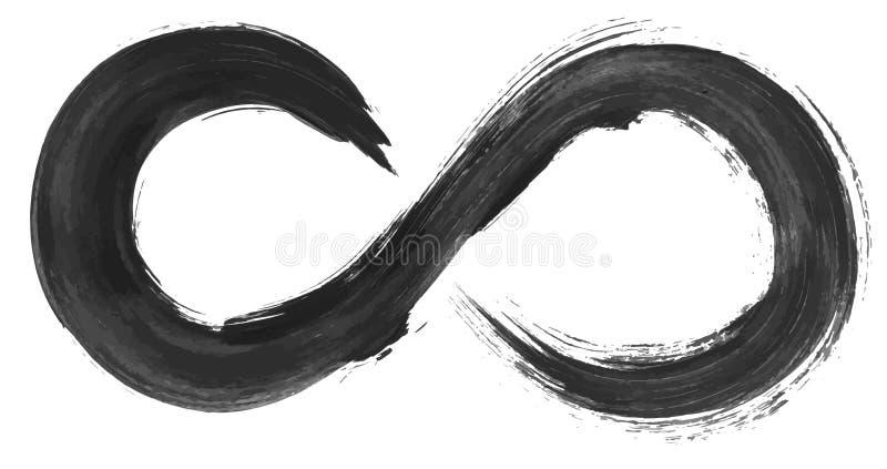 Het symbool van de Grungeoneindigheid stock illustratie