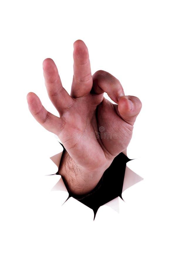 Download Het symbool van de hand stock afbeelding. Afbeelding bestaande uit gescheurd - 29508615