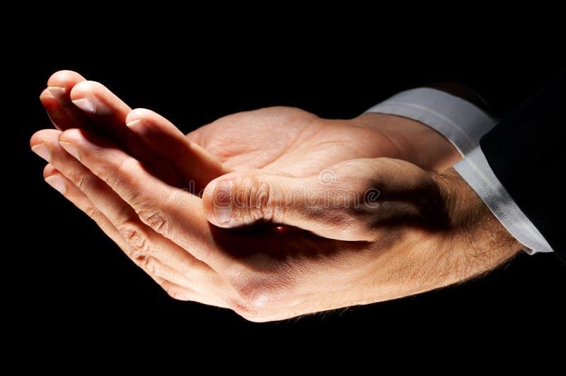 Het symbool van de hand stock afbeeldingen