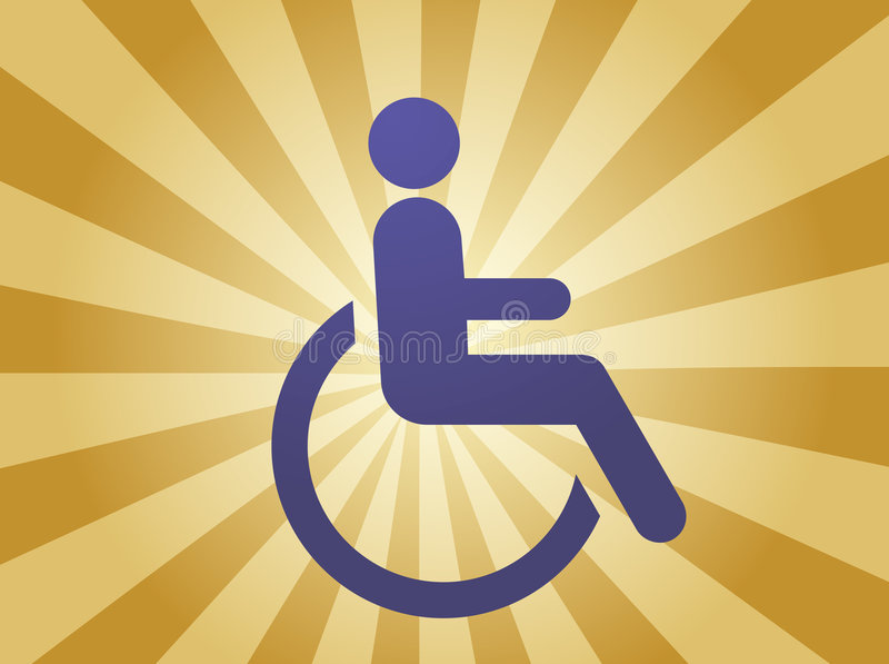 Het symbool van de handicap stock illustratie